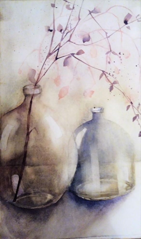 Glasvasen, 30x40 cm
